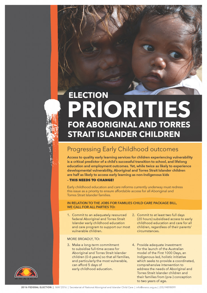 SNAICC Federal Election Platform 2016_HR_Page_1
