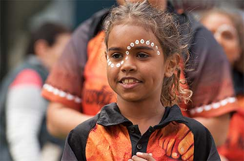 A young girl dancer in South Australia