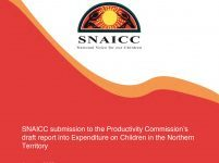 SNAICC submission to the Productivity Commission's draft report into Expenditure on Children in the Northern Territory
